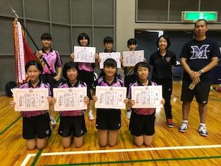 第60回沖縄県中学校卓球競技大会...